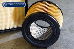 Filtro de aire de dos válvulas boxer con filtro redondo.