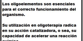 Definición de Oligoterapia. Fuente: Integra Salud Talavera