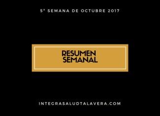Resumen Quinta Semana Octubre 2017