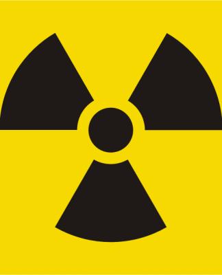 Símbolo de radiación según legislación española.
