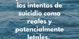 Suicidios reales y letales