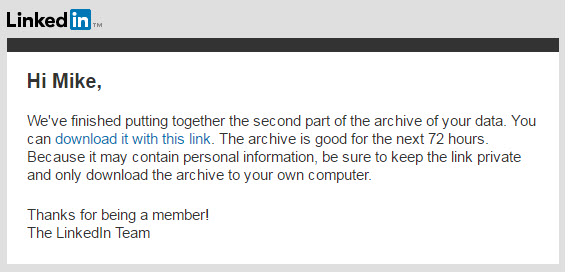 Archive Message text for second installment message