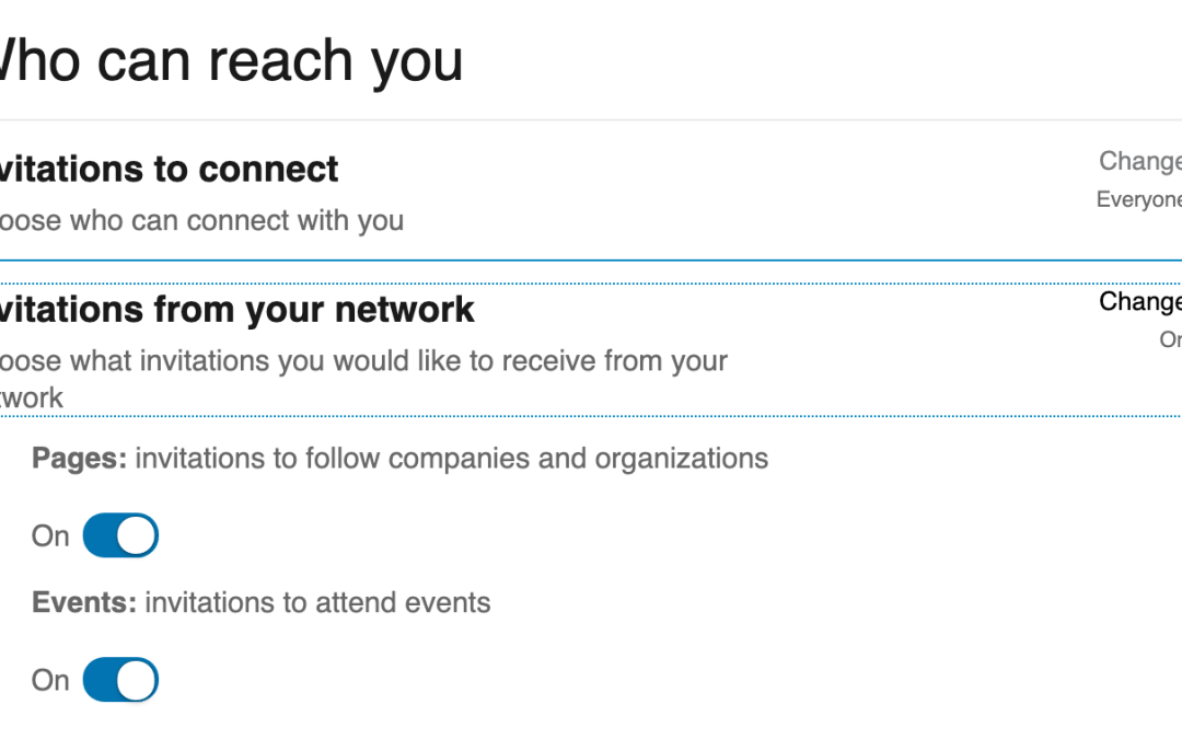 Filter out unwanted invitations to follow companies and attend events from your LinkedIn Inbox