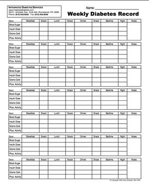 Gestational Diabetes Log Sheet Printable : gestational, diabetes, sheet, printable, Printable, Diabetes, Logsheets, Integrated, Services