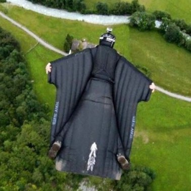 This wing suit looks rather too much like that black jumpsuit