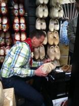 Wooden shoe-maker at the Keukenhof