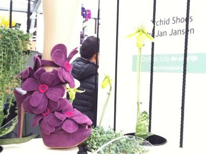 Orchid Shoes by Jan Jansen, Dutch shoe designer