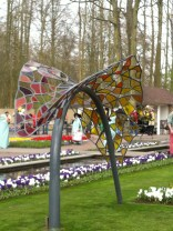 Stained glass sculpture at the Keukenhof