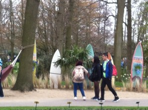 Surfing at the beach - at the Keukenhof