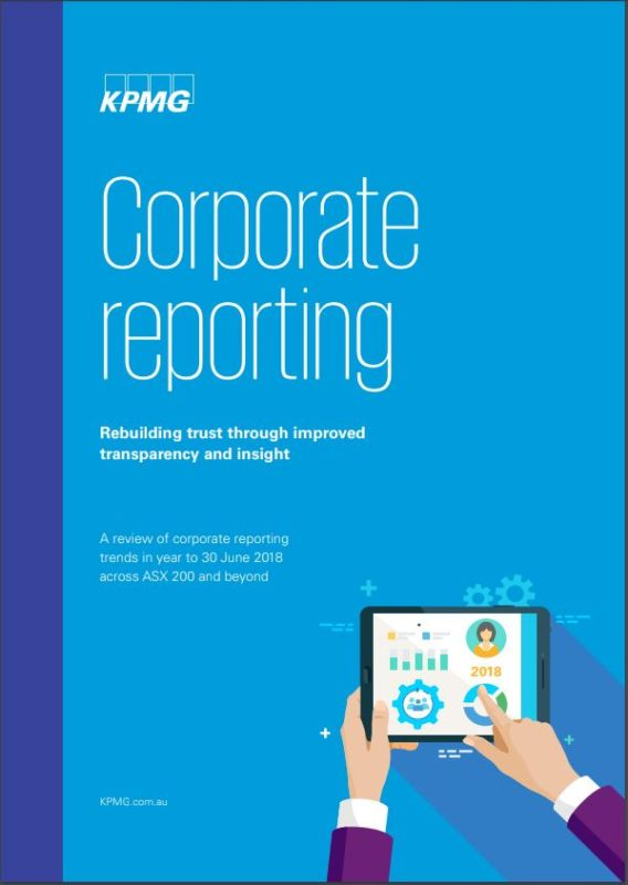 KPMG Rebuilding trust through improved transparency and insight  Integrated Reporting
