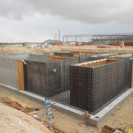 Concrete basin for large-scale retail wastewater treatment