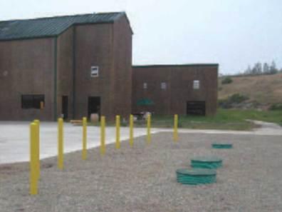 Unobtrusive wastewater system installation