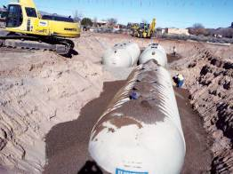 Containment Solutions wastewater treatment tanks