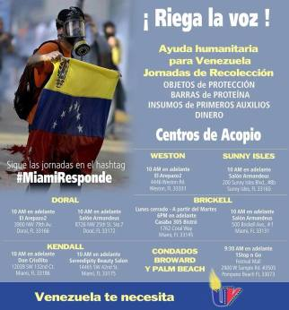 Centros de Acopio Miami, FL - Ayuda Humanitaria Venezuela