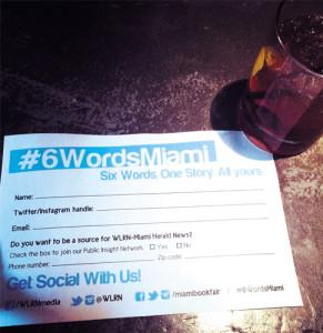 miami 6 palabras 6 words integrate news book fair miami dade college