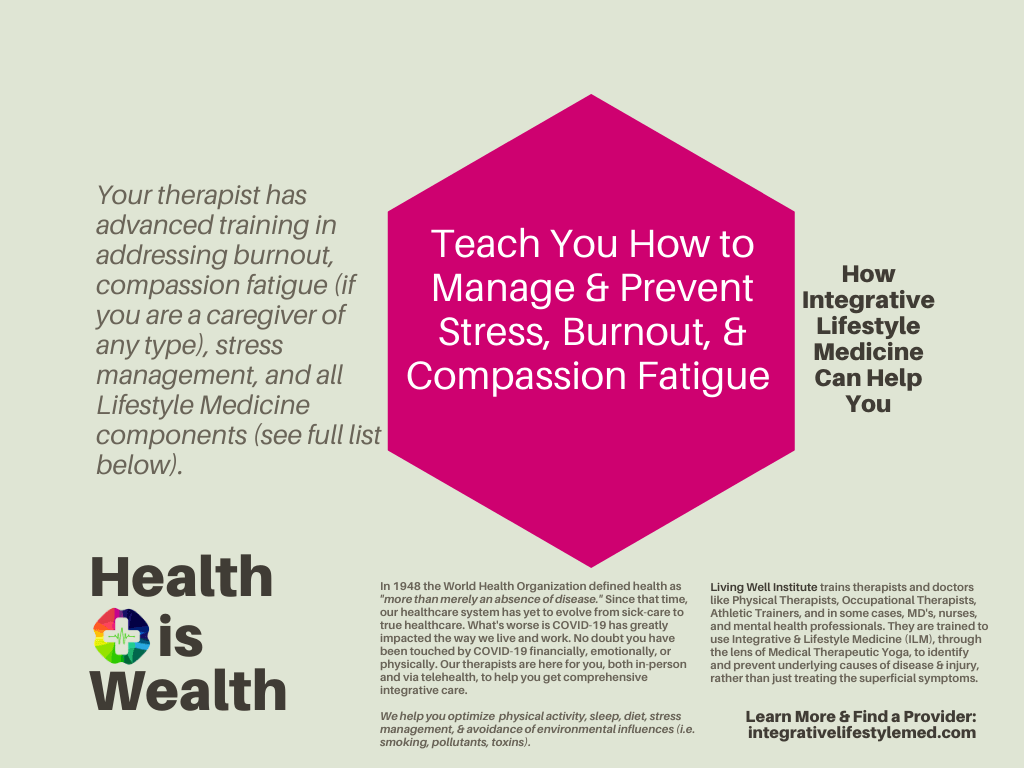 Manage Stress, Prevent & Manage Burnout, Compassion Fatigue - Living Well Institute