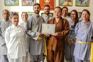 Spiritual Retreat Dr Shi Yan Shi Certificate