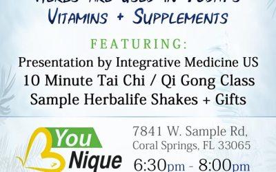 Coral Springs Acupuncture Seminar at B Younique Nutrition Dec 6
