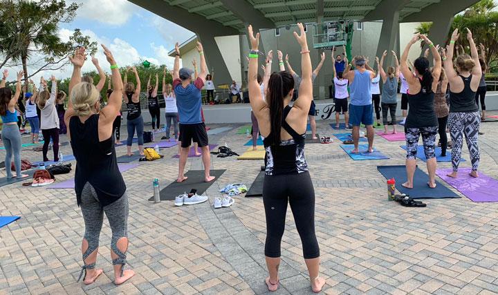 Tai Chi in Parkland Yoga for Mental Health Awareness