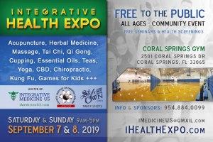 Integrative Health Expo Coral Springs Florida Sept 7-8 2019