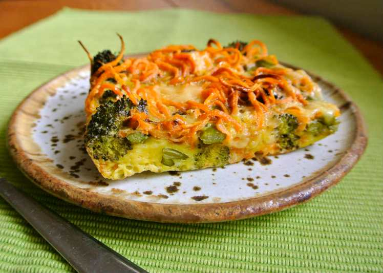Sweet Potato Asparagus Egg Bake