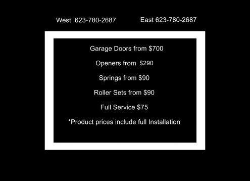 always better pricing integrity garage doors