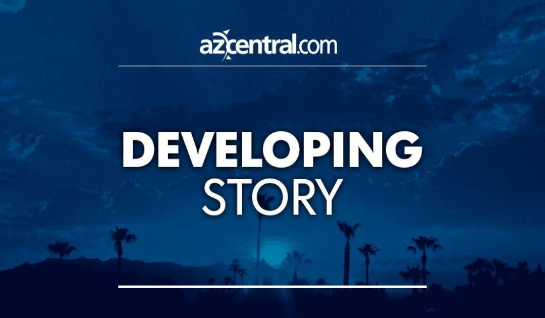 Car crash careens into bus stop, four injured