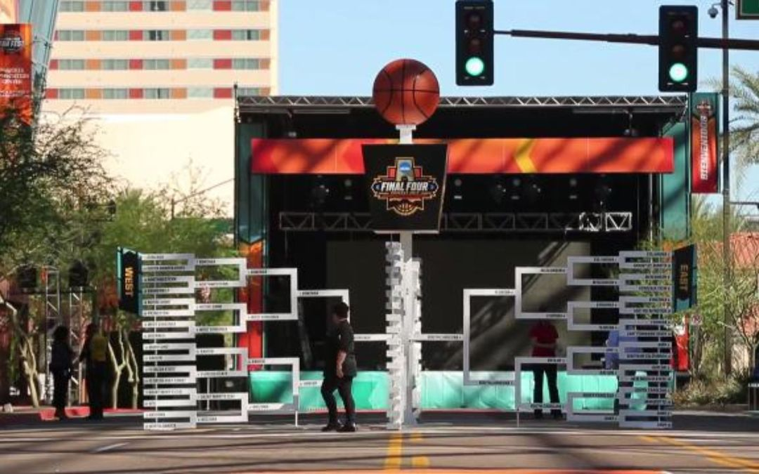 Downtown Phoenix gets ready for NCAA Final Four