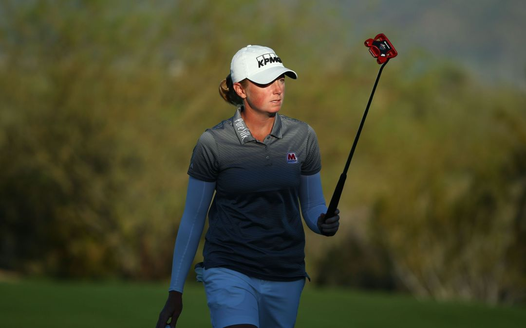 Stacy Lewis flirts with 59, shares Founders Cup lead
