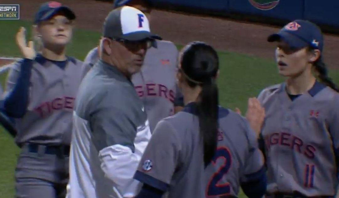 Auburn softball player has run-in with Florida coach