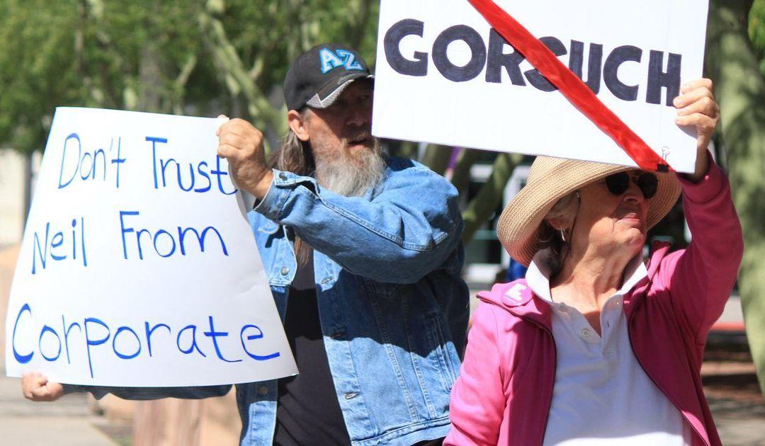 Phoenix-area residents protest Donald Trump's Supreme Court nominee
