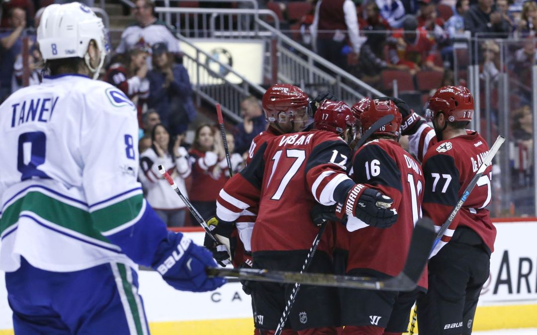Arizona Coyotes leapfrog Vancouver Canucks, hurt draft odds with win