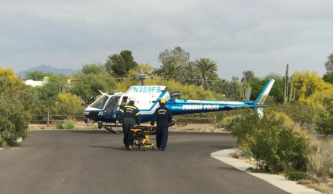 Crews use helicopter to airlift out-of-town hiker from Camelback Mountain in Phoenix