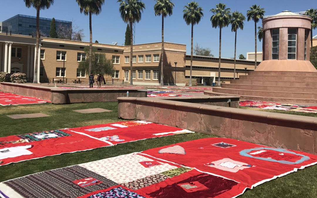 Monument Quilt on display at ASU campus in Tempe