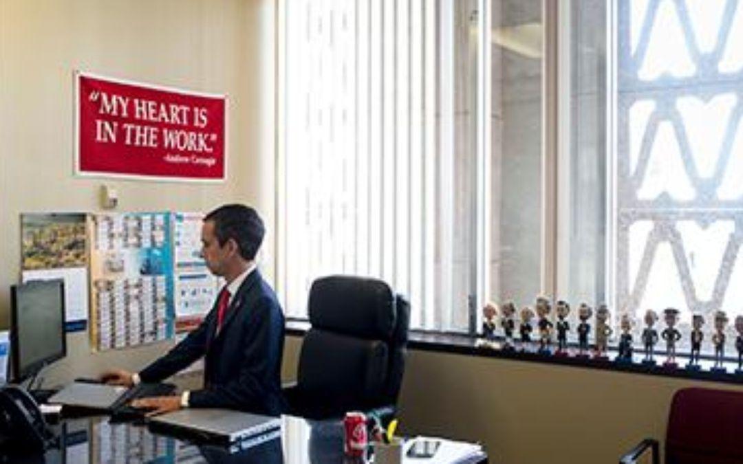Freshman Arizona state Sen. Sean Bowie speaks