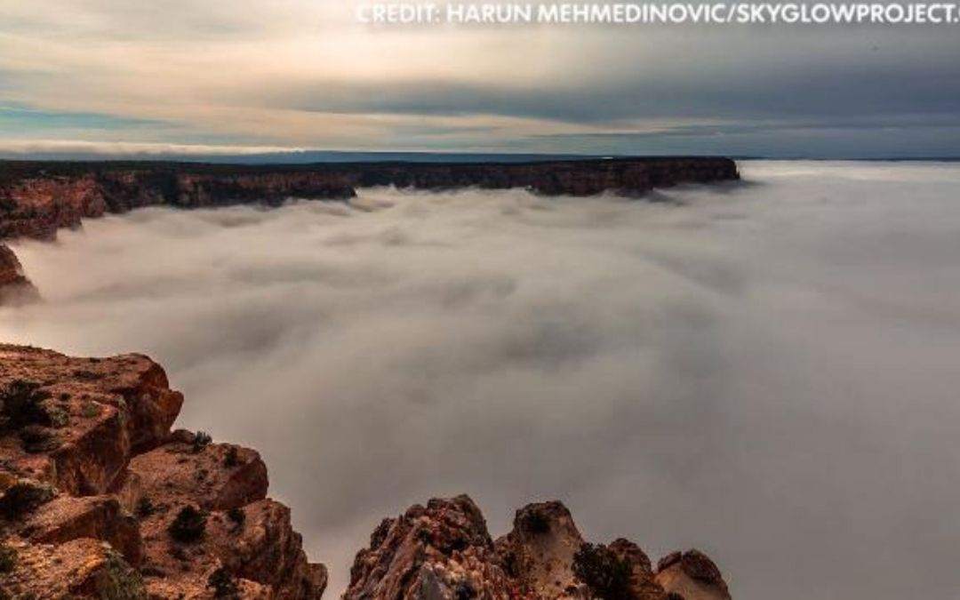 Stunning video shows Grand Canyon filling with ocean of clouds