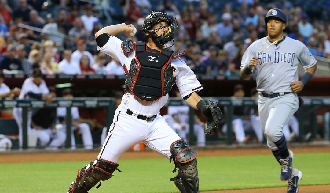 Diamondbacks' Jeff Mathis securing key outs with arm