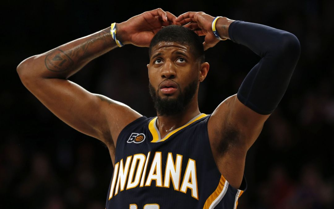 Indiana Pacers' Paul George left off