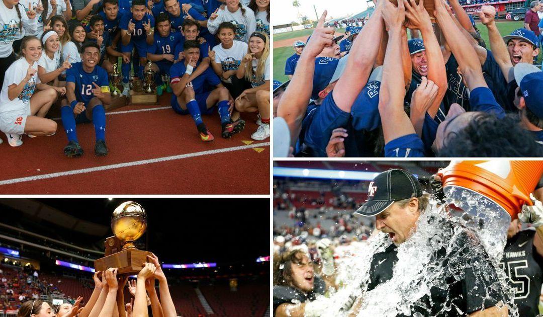 High school state team champions 2016-17