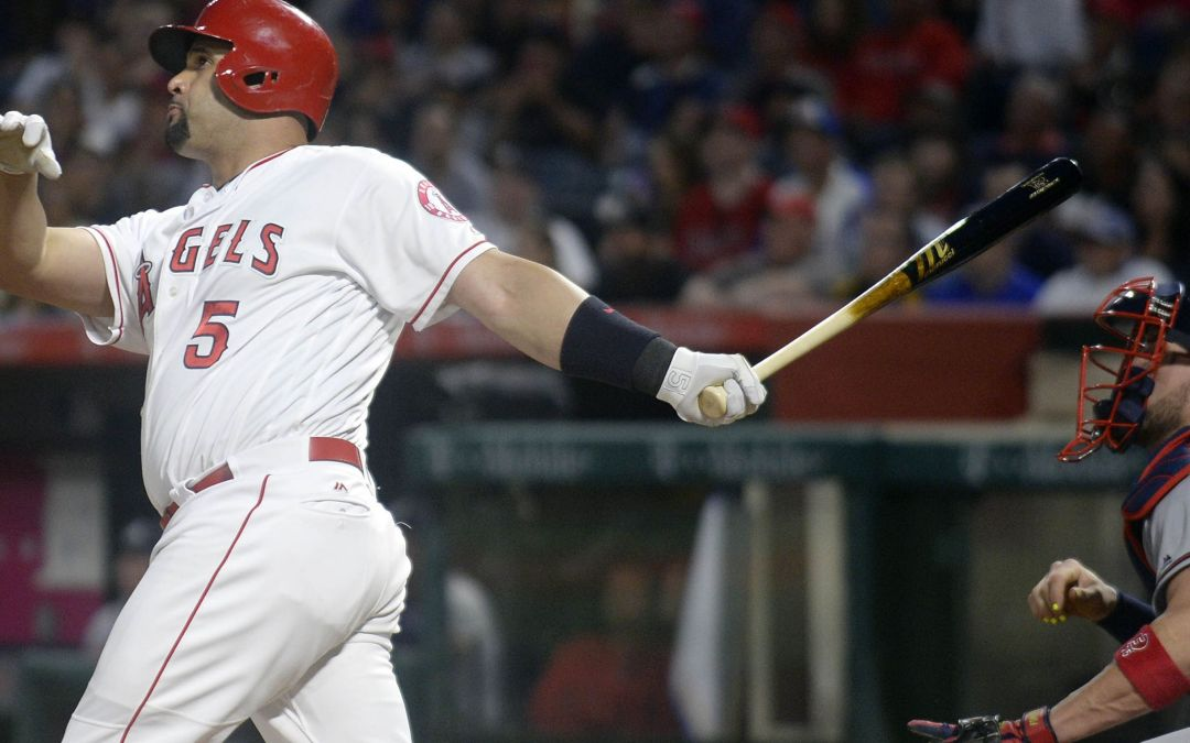 Albert Pujols hits career HR No. 599 in rout of Atlanta Braves