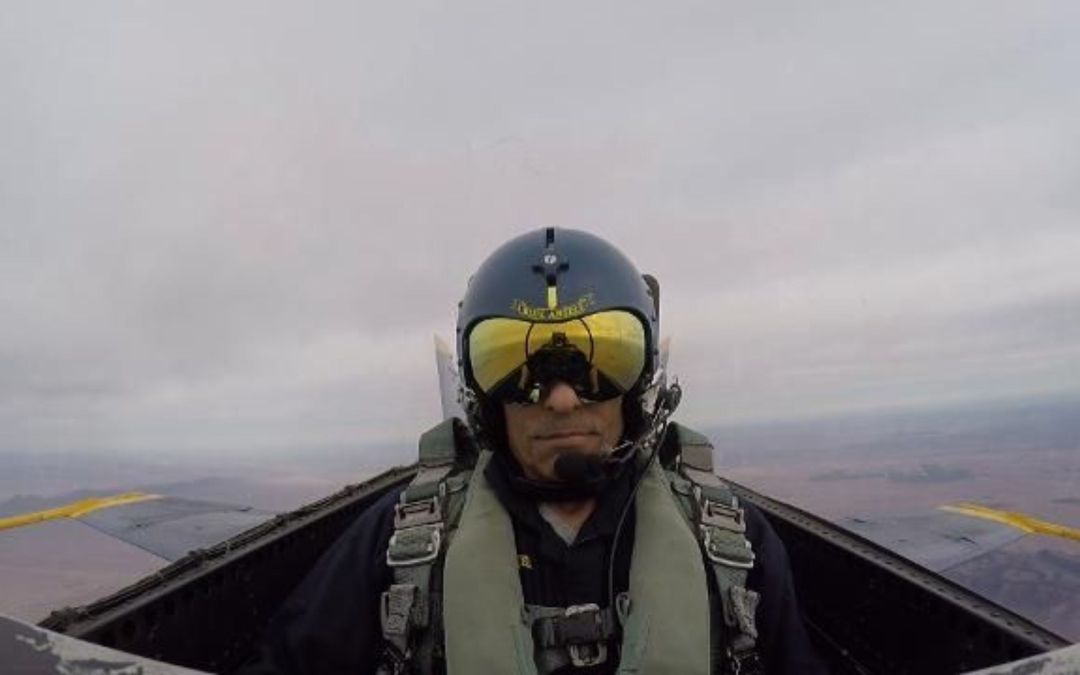 Herm Edwards takes flight with Blue Angels