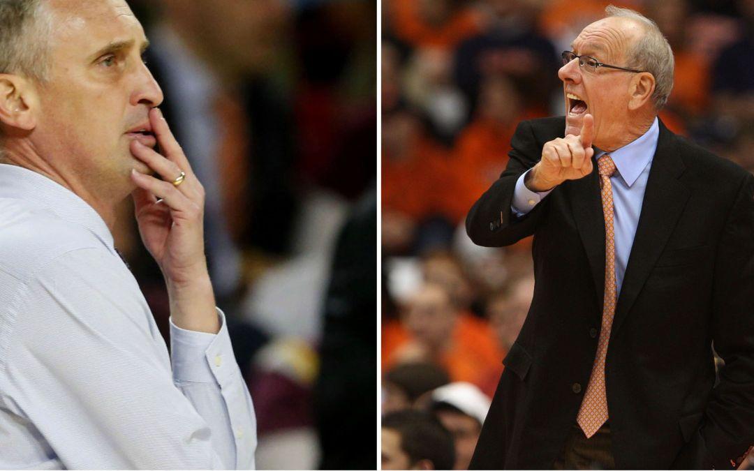 Syracuse's Jim Boeheim ASU's Bobby Hurley coaching clash NCAA Dayton