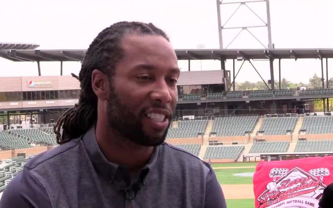 Larry Fitzgerald touts his charity softball game