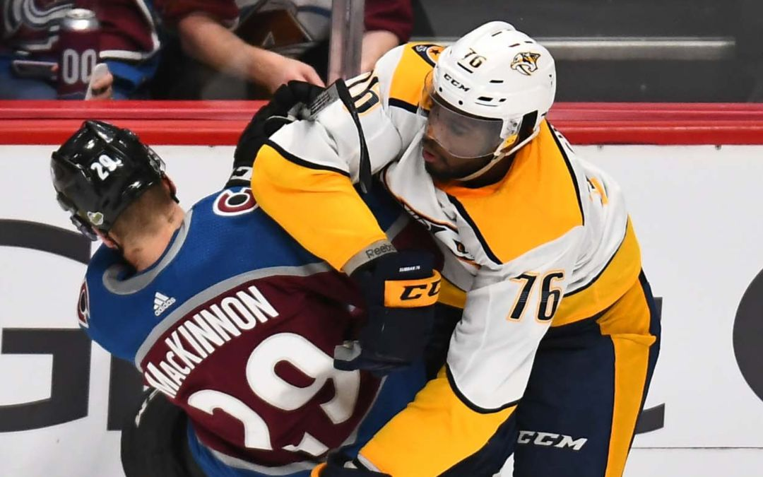 P.K. Subban appeared to sucker punch Nathan MacKinnon