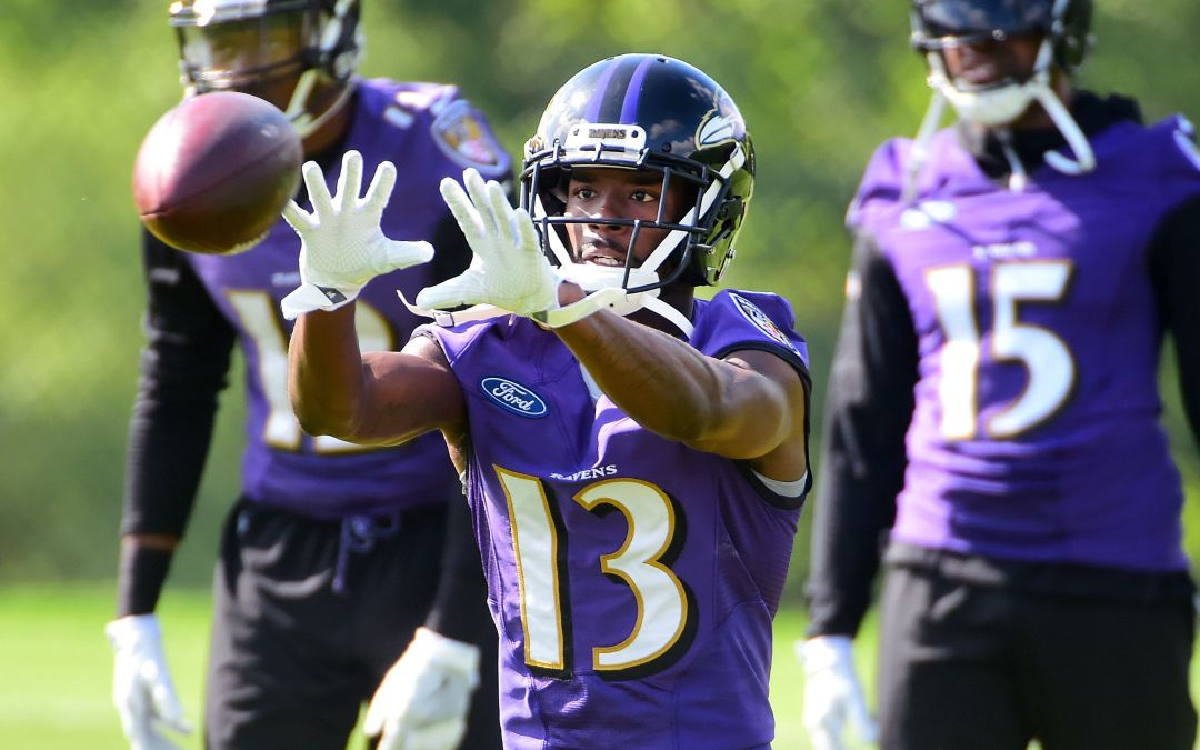 Ravens wide receiver John Brown shining after move from Cardinals