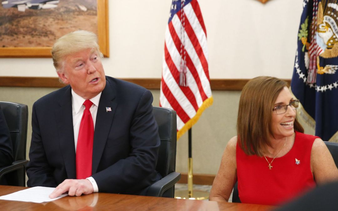Trump visits Luke Air Force Base in Glendale ahead of Mesa rally