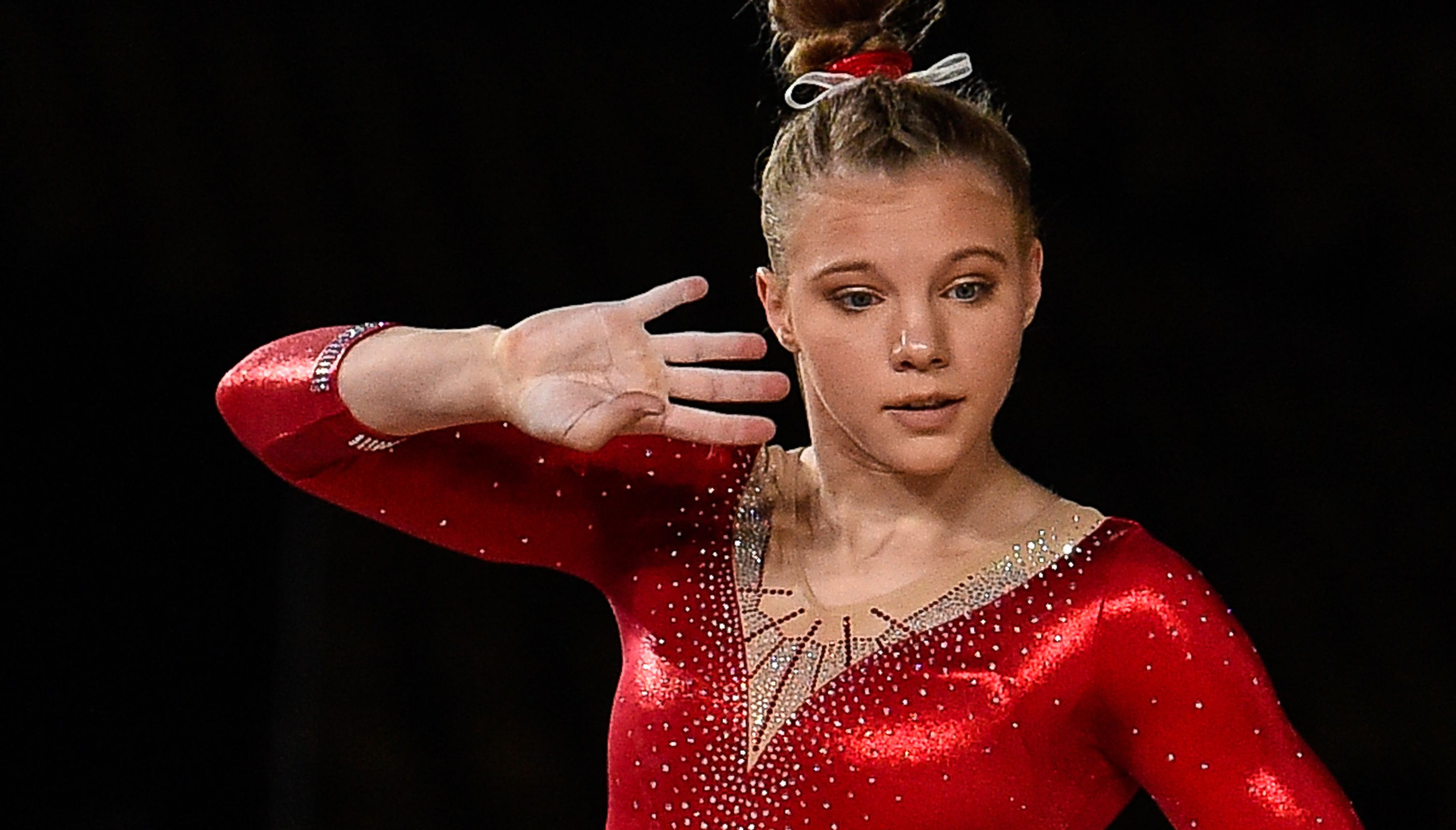 Carey completes sweep of four gold medals at two world cup gym