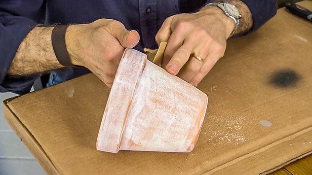 How to Antique Glaze Clay Pots