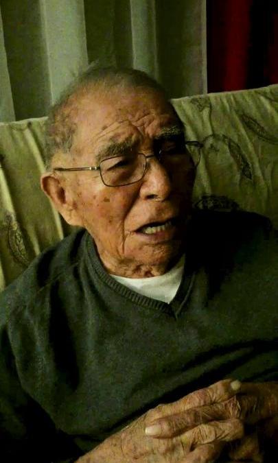 Navajo Code Talker Fleming Begaye Sr. sings the Marines' Hymn