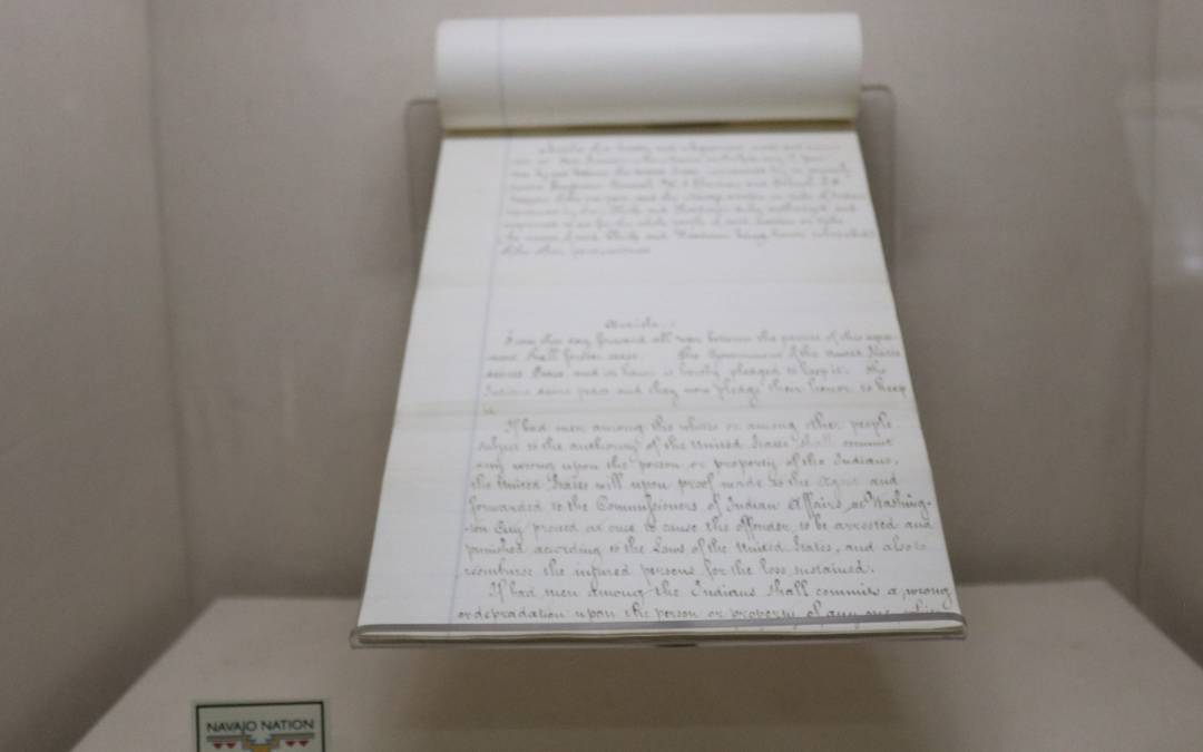 Copy Of 1868 Treaty Returns To The Navajo Nation